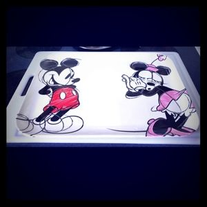 Disney mickey and minnie mouse serving tray